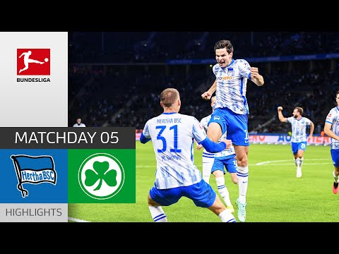 Hertha Berlin Greuther Furth Goals And Highlights