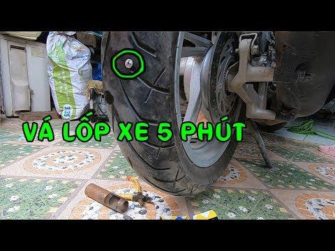 Chia Sẽ Cách Vá Lốp Xe Trong 5 Phút Không Tốn Một Đồng