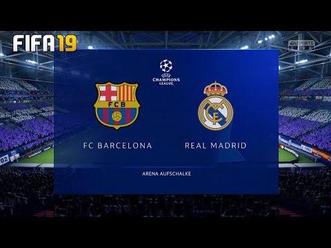 Barcelona Vs Real Madrid ! FIFA 19 ! UEFA Champions League Final ! Full Match & Gameplay