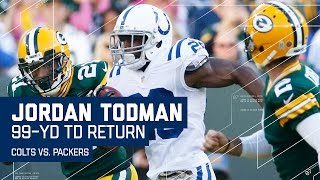Jordan Todman Returns Opening Kickoff 99 Yards for a TD! | Colts vs. Packers | NFL