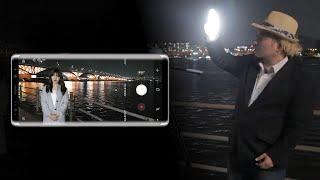 [스마트폰으로 사진촬영하기] 인물이 포함된 야경 사진 촬영할 때 알아두면 좋은 점들