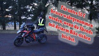 Motorrad Sicherheit - Tipp - Besser Wahrnehmen bei Dunkelheit - Panne