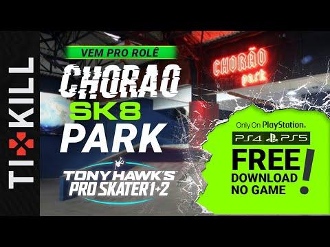 """Brasileiros recriam """"Chorão Skate Park"""" no remake de Tony Hawk's Pro Skater para PS4"""