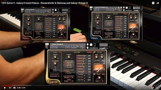 VSTI Demo 3 - Galaxy II Grand Pianos - Boesendorfer & Steinway and Galaxy Vintage D