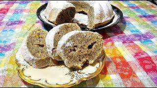 Лимонный кекс  с маком. Это самый простой кекс на кефире к чаю