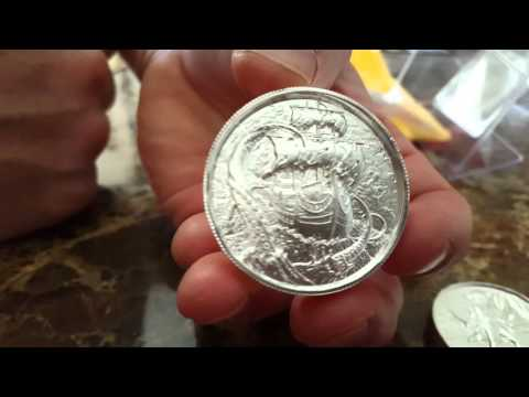 Unboxing The Krakken 2 Oz Silver Coins from ISN International Silver Network