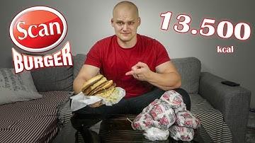 Scanburger Hampurilaismenu (13.500kcal)