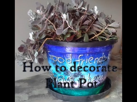 Craft Sheree Creates Plastic Plant Pot Decoration Pt 1