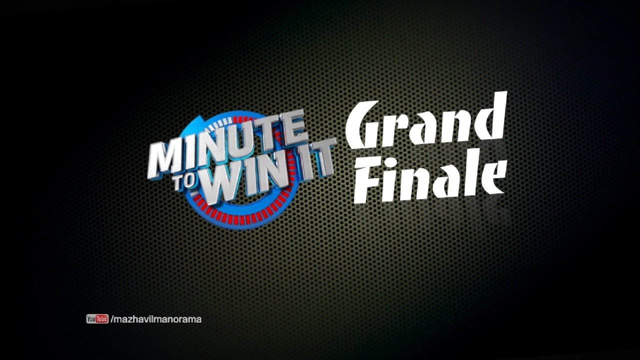 Minute To Win IT I Grand Finale Special I Mazhavil Manorama