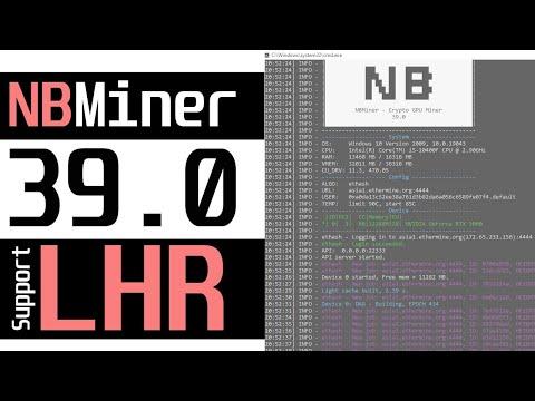 NBMiner v39.0 Unlock LHR HashRate - RTX3060 LHR
