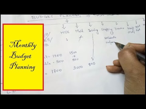how to plan monthly budget in hindi ll budget planning ll beginners