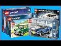 COMPILATION LEGO Creator Vehicles Ford Mustang, Volkswagen T1, MINI Cooper, Ferrari F40 - UNBOXING