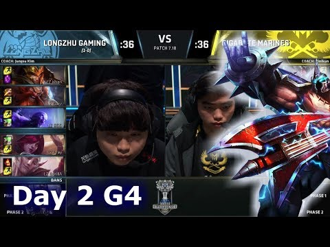 Longzhu Gaming vs Gigabyte Marines | Day 2 Main Group Stage S7 LoL Worlds 2017 | LZ vs GAM G1