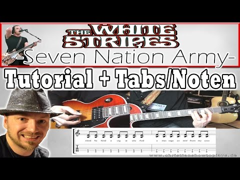 """★The White Stripes SEVEN NATION ARMY  """"Easy Rock Akkord Song"""" Tutorial/Lesson + TABS"""
