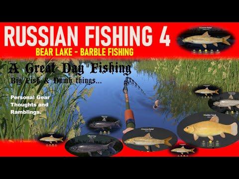 RUSSIAN FISHING 4 Bear Lake - Barble Fishing - BIG FISH & DUMB THINGS