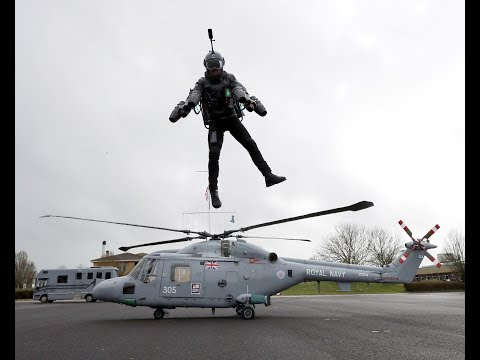 JET SUIT LANDS ON MULTIPLE HELICOPTERS AT HMS SULTAN