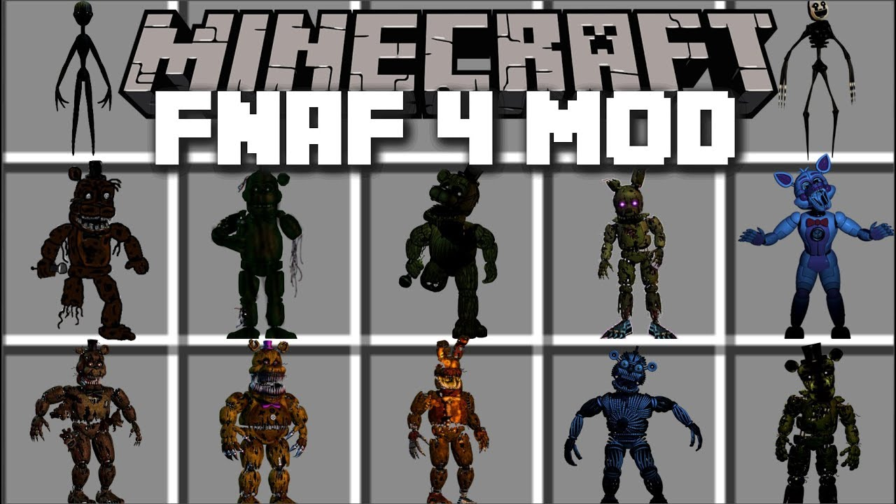 minecraft five nights at freddy s mod fight evil fnaf monsters and
