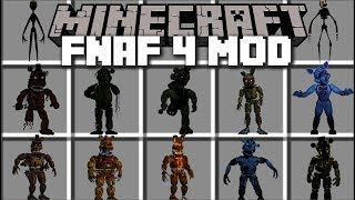 Minecraft FNAF 4 MOD FIGHT AND SURVIVE THE NIGHT WITH FNAF Minecraft