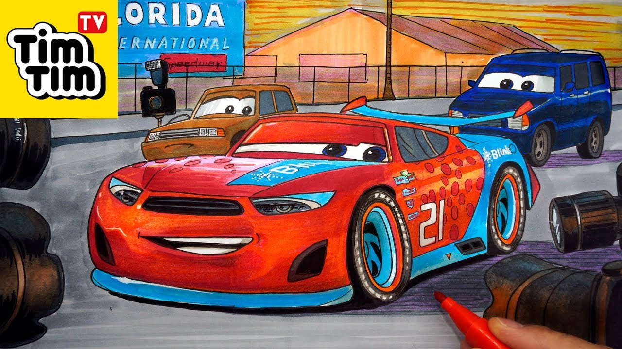 How to draw CARS 3 Ryan