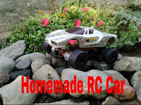 How to Make a Battery Operated Homemade Wired RC Car - YouTube