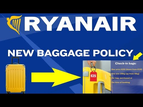 NEW RYANAIR Baggage Policy
