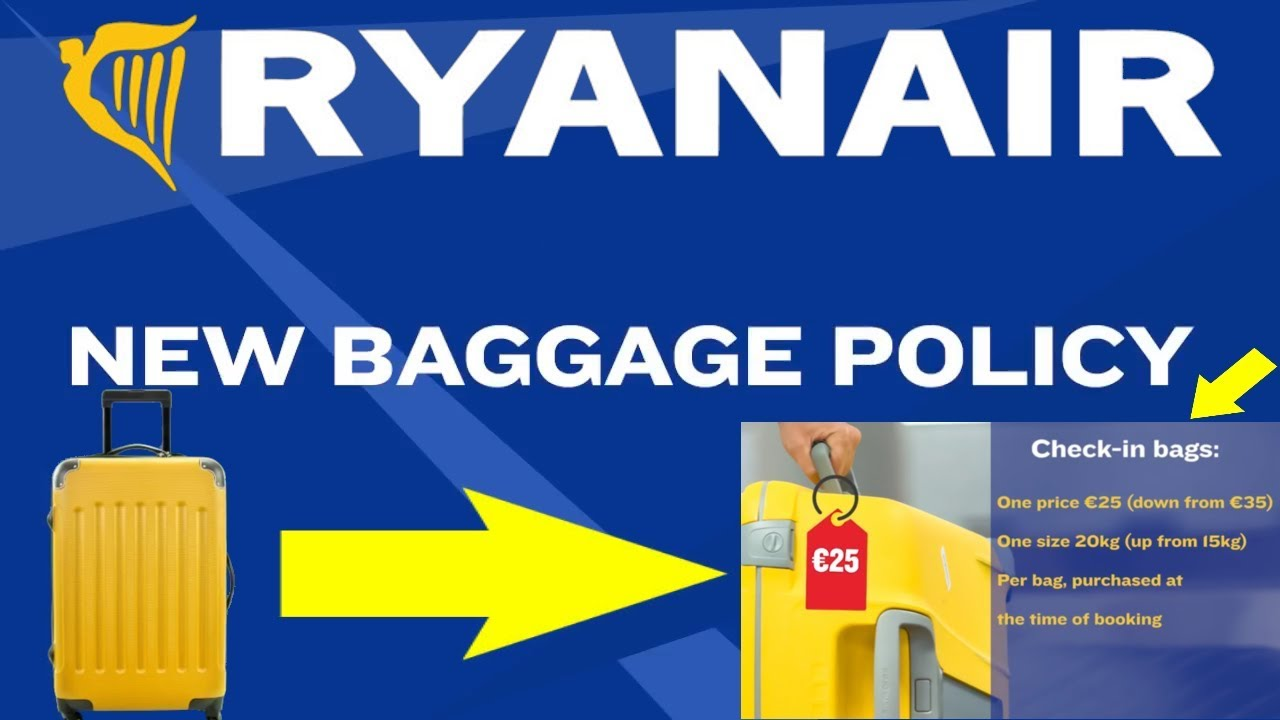 NEW RYANAIR Baggage Policy - YouTube