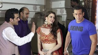Salman Khan's MACHO ENTRY In Front of Arbaz Khan & His Gf At Shilpa Shetty's Diwali Party 2108