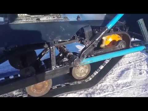 видео: Самодельный мини-снегоход своими руками (общий вид)