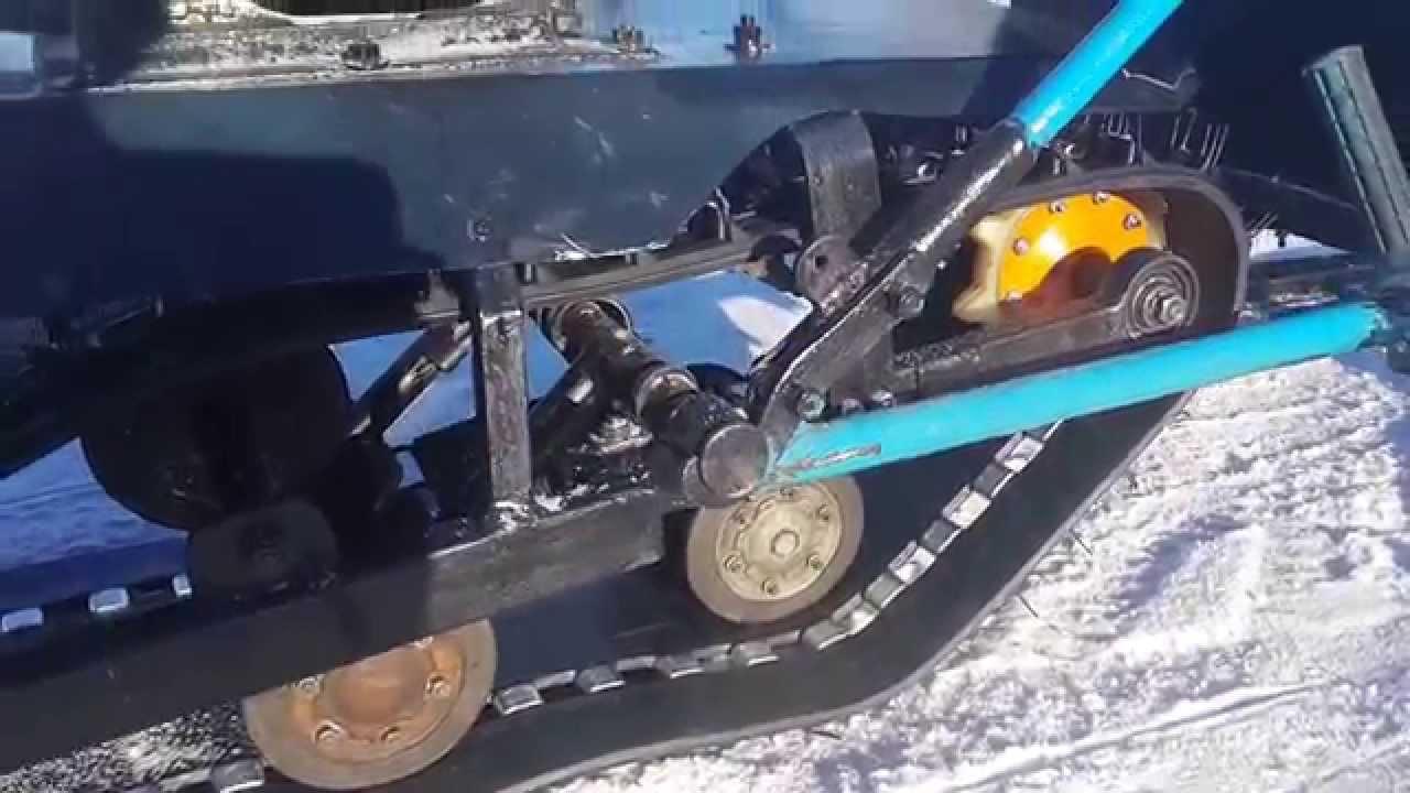 Мини снегоходы своими руками видео