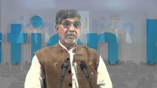 Nobel Peace Laureate Kailash Satyarthi speaks at the World Education Forum 2015