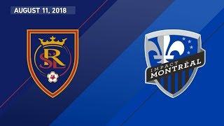 HIGHLIGHTS: Real Salt Lake vs. Montreal Impact | August 11, 2018