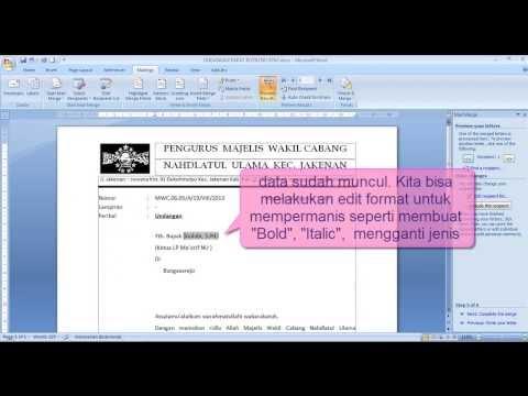 CARA MUDAH MEMBUAT MAIL MERGE MS WORD