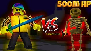 I FOUGHT THE BOSS ANTHRO WITH A GOD WEAPON (Roblox Warrior Simulator)