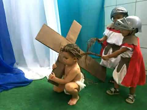 Little Kids Play The Passion Of Jesus