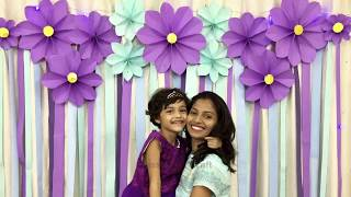 very easy, simple paper flower Decoration for birthday | Easy Birthday Backdrop
