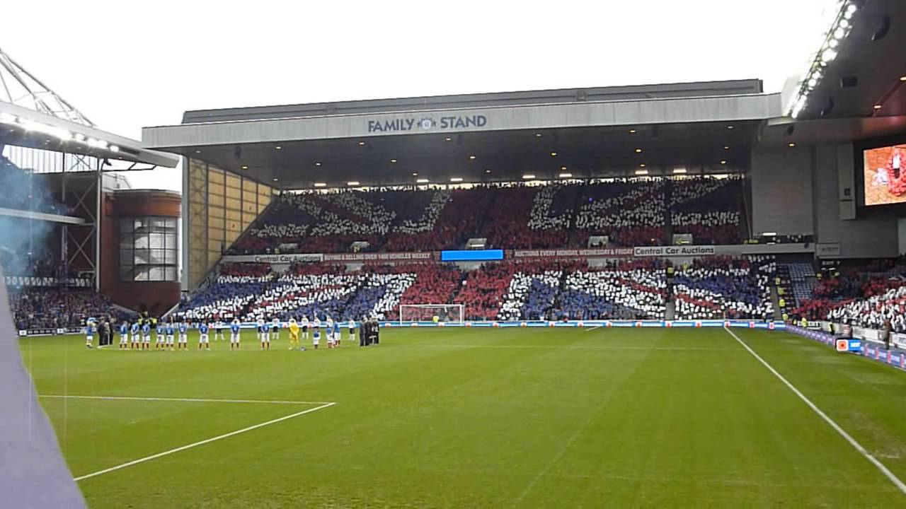 Rangers Poppy Display - Armed Forces Tribute - YouTube