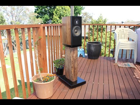 DIY Bookshelf Speaker Stands - Recycled Hardwood