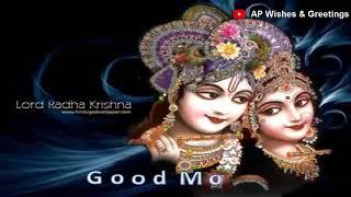 Good morning Radha Krishna Beautiful Whatsapp Video Full HD
