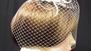 Birdcage Veil White French Blusher 9in Wedding Veil Accessory No 2 Thumbnail