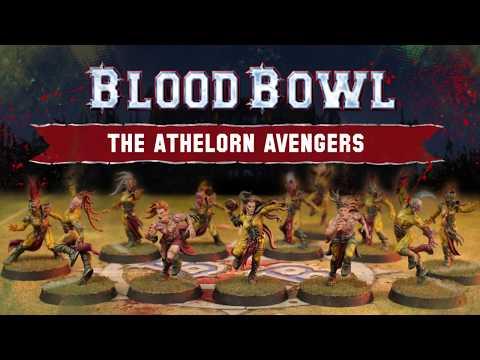 BLOOD BOWL THE ATHELORN AVENGERS WOOD ELF BLOOD BOWL TEAM GW 2019