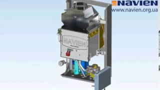 демонтаж, замена и ремонт трехходового клапана на котле NAVIEN ACE Atmo