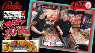 Gambar cover #1402 Bally PARTY ZONE & Williams MEDIEVAL MADNESS Pinball Machines- TNT Amusements