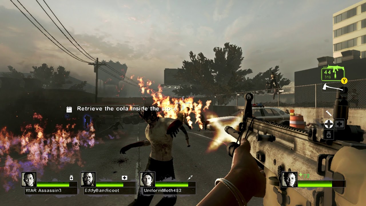Testing Left 4 Dead 2 (XBox 360) on Xbox One X