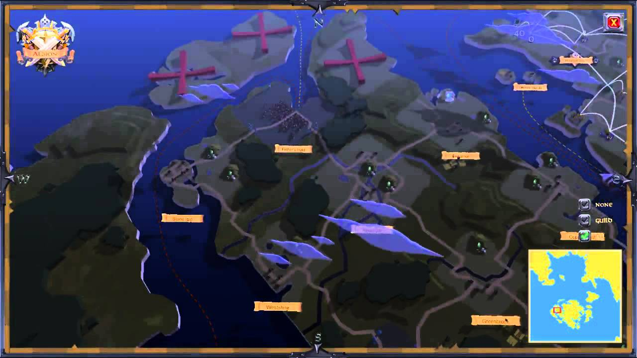 Albion Online World Maps Winter Alpha Youtube