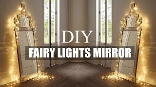 DIY ROOM DECOR | FAIRY LIGHT MIRROR