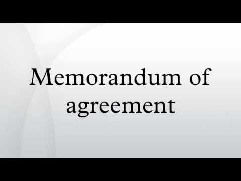 Memorandum Of Agreement - Youtube