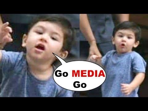 Taimur Ali Khan CUTEST Conversation With Media While Running Towards School
