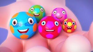 Football Finger Family | Kindergarten Nursery Rhymes For Kids