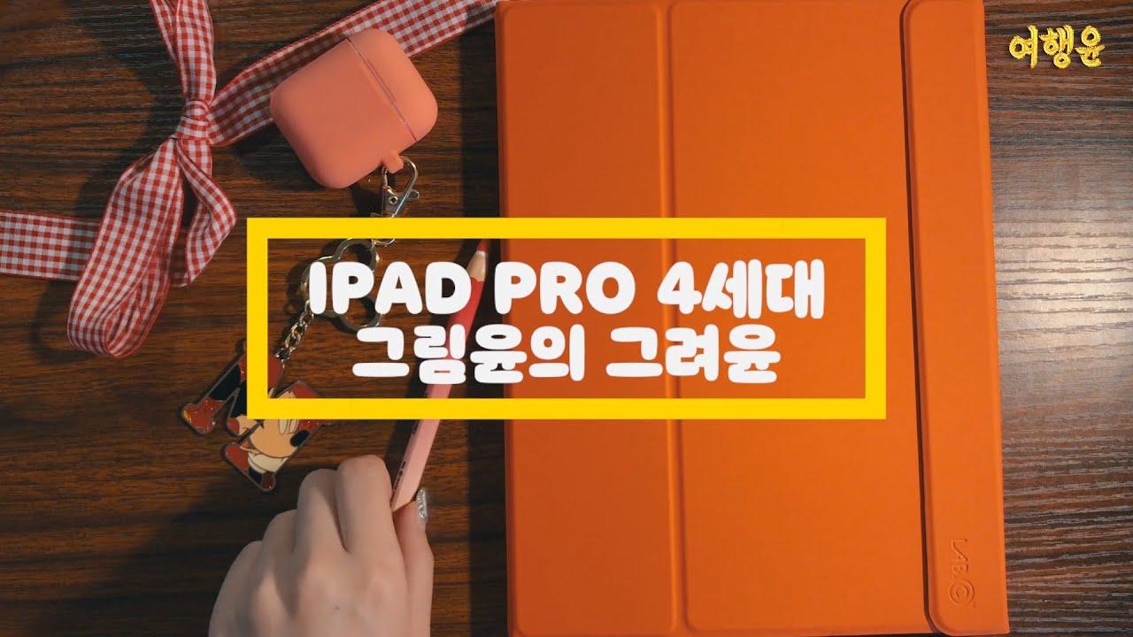 🎨 그림윤의 그려윤 | 꼭 필요한 아이패드 프로 4세대 악세사리 + 애기윤 일러스트 | #ipadpro #아이패드케이스 #procreate