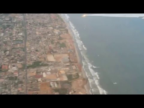 Emirates flight taking off Accra - Ghana to Dubai